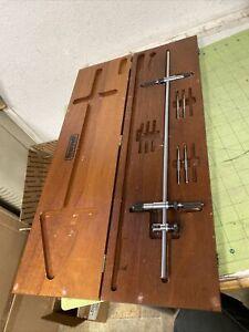 Starrett C- 251 Trammel Points Set in Wood Case - LATHE MILL Machinist (of43