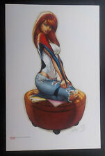 J SCOTT CAMPBELL Mary Jane art print SOLD OUT  11x17