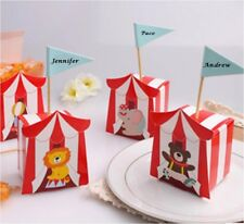 50pc Circus Animal Elephant Seal Lion Bear Baby Shower Favor Candy Box GX001