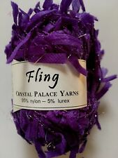"Crystal Palace Yarn Fling #3542 ""Violets Are Blue"" Paper Flag Metallic Sparkle"