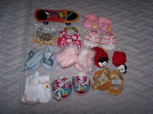 large lot Build-A-Bear clothes shoes accessories 83 pieces