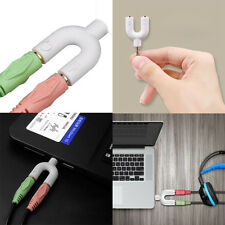 Cuffie Kit Adattatore Forma A U 3.5mm Sdoppiatore Per L'Audio e microfono MP3