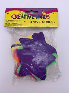 Vintage Creative Hands 20 Foam Stars Purchased 1980s - 1990s NIP
