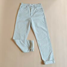 Womens Lacoste Off White Cream Casual Button Fly  Jeans Size W31 L32 High Rise