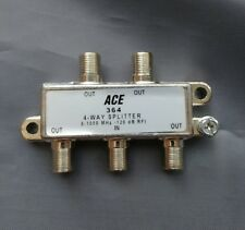 (1 PC) 4-Way 5-1000MHz Cable TV Antenna Splitter