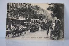 CPA 2815 PARIS BOULEVARD DES ITALIENS 10/10/1911 AUTOBUS SCHNEIDER TB