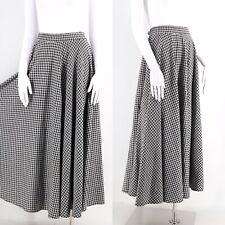 vintage 90s Patrick Kelly Paris houndstooth black & white knit circle skirt L