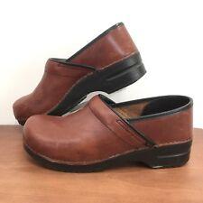 Dansko Sz 42 Leather Clog British Tan Professional Stapled Clog Unisex Size 42