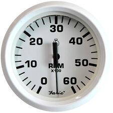 "Faria Dress White 4"" Tachometer - 6,000 RPM (Gas - Inboard & I/O)"