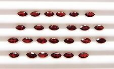 8.40 Cts 25 Pcs Natural Garnet Marquise Cut Lot Loose Gemstone 3X6 MM B-101