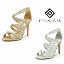 DREAM PAIRS Women's Open Toe High Heel Sandals Party Dress Rhinestone Shoes