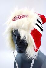 Detroit Red Wings Reebok Face Off Hockey Trapper Style Knit Hockey Cap Hat