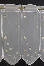 m/€18,07 Scheibengardine Gardine Bistrogardine 538 50 cm hoch Stern Sterne gold