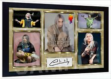 Billie Eilish signed autograph Music Art print poster Framed Perfect Gift