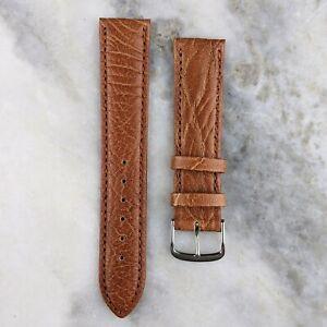 Genuine Calfskin Leather Watch Strap - Mid Brown - 18mm/20mm