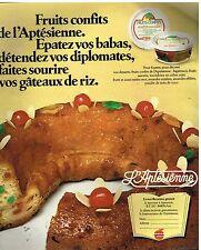 Publicité Advertising 1978 Les Fruits confits l'Aptésienne