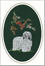 Cardigan Corgi Birthday Card or Notecard Embroidered by Dogmania