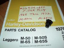 1969 HARLEY AERMACCHI M-65CC LEGGERO FILLER PLUG  26474-65P  AMF