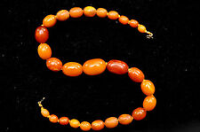 """Antique +100 Years Old Butterscotch Amber Necklace 27.30 grams -- 15.5"""""""