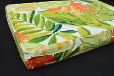 LF804t White Green Yellow Orange Cotton Canvas 3D Seat Box Shape Cushion Cover