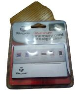 Memory Card Aluminum Case Targus Holds 3 Cards MicroDrive SD MMC SDMC SDHC Micro