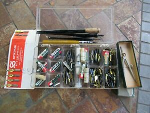 """Vintage Large Lot Mixed """"Leroy Lettering Pens"""" With some holders"""