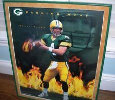 "Brett Favre Framed 16 x 20  Poster ""Packing Heat"" Green Bay Packers"