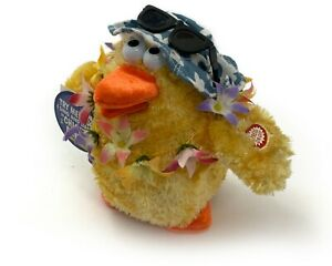 Dan Dee Animated Hawaiian Fur Dancing Singing Chicken Dance Plush Toy Lights Up