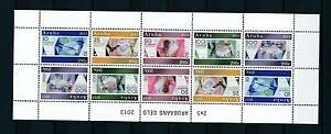 [ARV675] Aruba 2013 Bank Notes Paper Money Miniature Sheet MNH