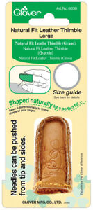 Clover Natural Fit Leather Thimble-Large