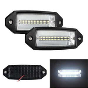 "2x 7"" LED 60W Flat LED Light Flush Mount Off Road Tail Lamp Waterproof for Jeep"