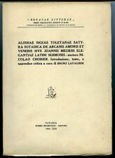 Aloisiae sigeae tolentanae satyra sotadica de arcanis amoris. Nicolao Chorier