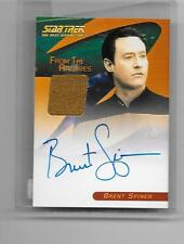 Star Trek 40th Anniversary Brent Spiner Costume Autograph Card