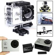 New HD 1080P 140 Wide-angle Lens Waterproof Sports DV Camera for SJ4000 Silver