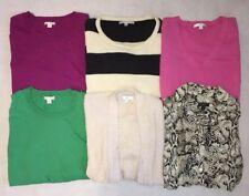 Lot Of (6) Sweaters & Shirts & Cardigans / Women's Size Medium M / Talbots, Gap