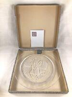 Lalique 1966 Rose De Songerie Dream Rose Annual Collectors Plate