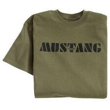 NEW FORD MUSTANG PONY SIZE MEDIUM XL OR XXL ARMY GREEN PRE-SHRUNK COTTON SHIRT!
