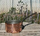 Matfer Copper 1 Qt Sauce Pan w/ tin lining & cast iron handle, Made in France
