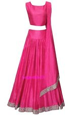 Indian Long Skirt, Bollywood Skirt, Hot Pink Long Skirt With Blouse, Dance Skirt