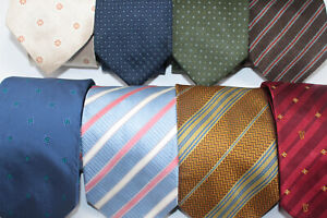 LOT OF 50 silk ties job mixed design suit wear Made in Italy