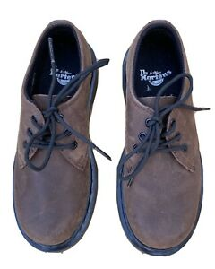 Dr Martens Kids Leather Shoes UK 13  BrownLace Up Rubber Sole  Lightly Worn
