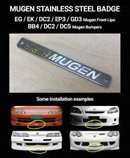 Mugen style stainless steel badge /honda/bumper/lip/dc2/dc5/ep3/bb4/eg/ek/gd/jdm