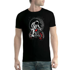 Astronaut Motorbike Moon Mens T-shirt XS-5XL
