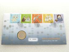 2003 British DNA DOPPIA ELICA 50th anniversario £ 2 due Pound Coin Primo giorno di copertura