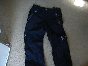 Mountain Hardwear Mens Dry Q Elite Snow Pants Waterproof Black Size Small