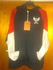 NEW Chicago Bulls Mitchell & Ness Sweatshirt Trading Block Hoody Hoodie 2XL