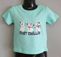 BNWT Little Boys Sz 1 Best And Less Blue Christmas Cute Cotton Print Tee Top