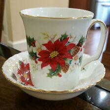 Royal Albert Poinsettia Mug & Small Bowl or Saucer 1976