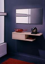 Recibidor con espejo incluido color roble, conjunto de muebles para entrada.