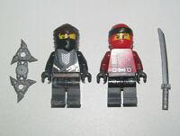 Lego ® Lot x2 Minifig Figurine Ninjago Ninja Kai + Ninja Cole & Armes NEW
